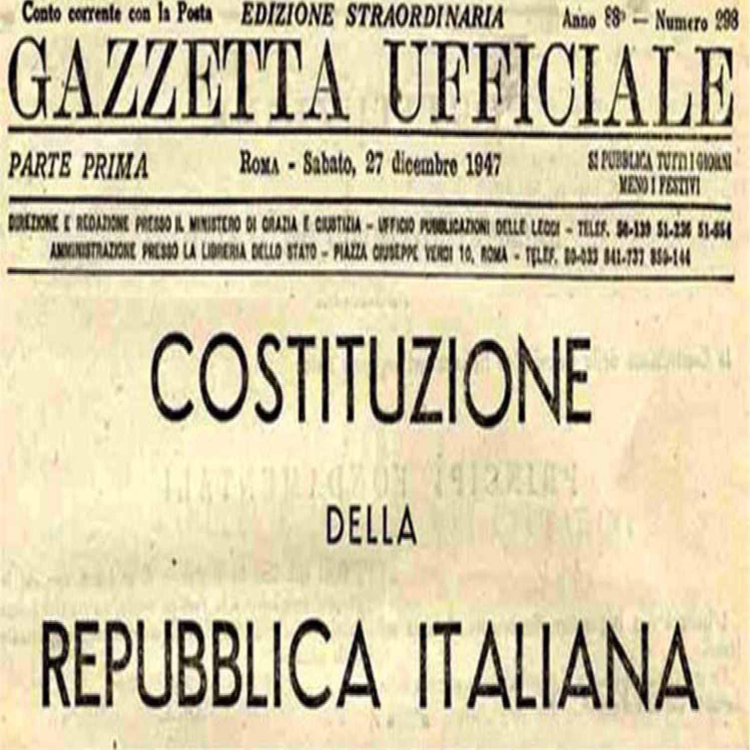 Podcast – La costituzione italiana